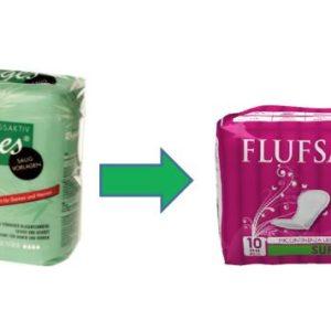 Flufsan Super Inkontinenzorlagen